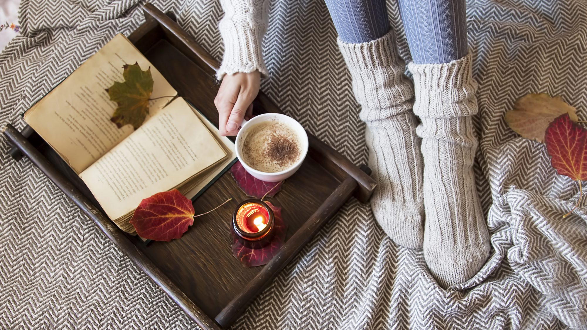What is cottagecore - cottagecore explainer, how-to, images, and more (woman with cozy socks)