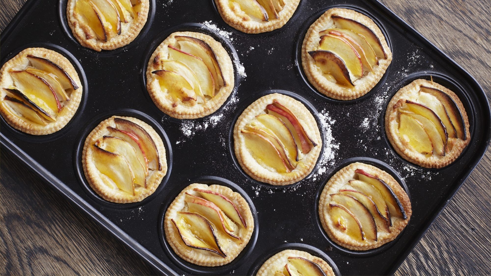 how-to-scale-recipes: mini pies in oven