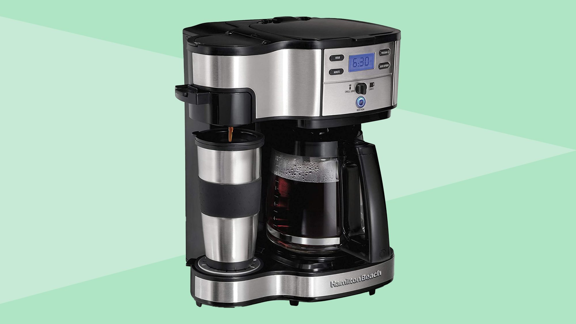 Hamilton Beach 2-Way Brewer Coffee Maker, Single-Serve and 12-Cup Pot