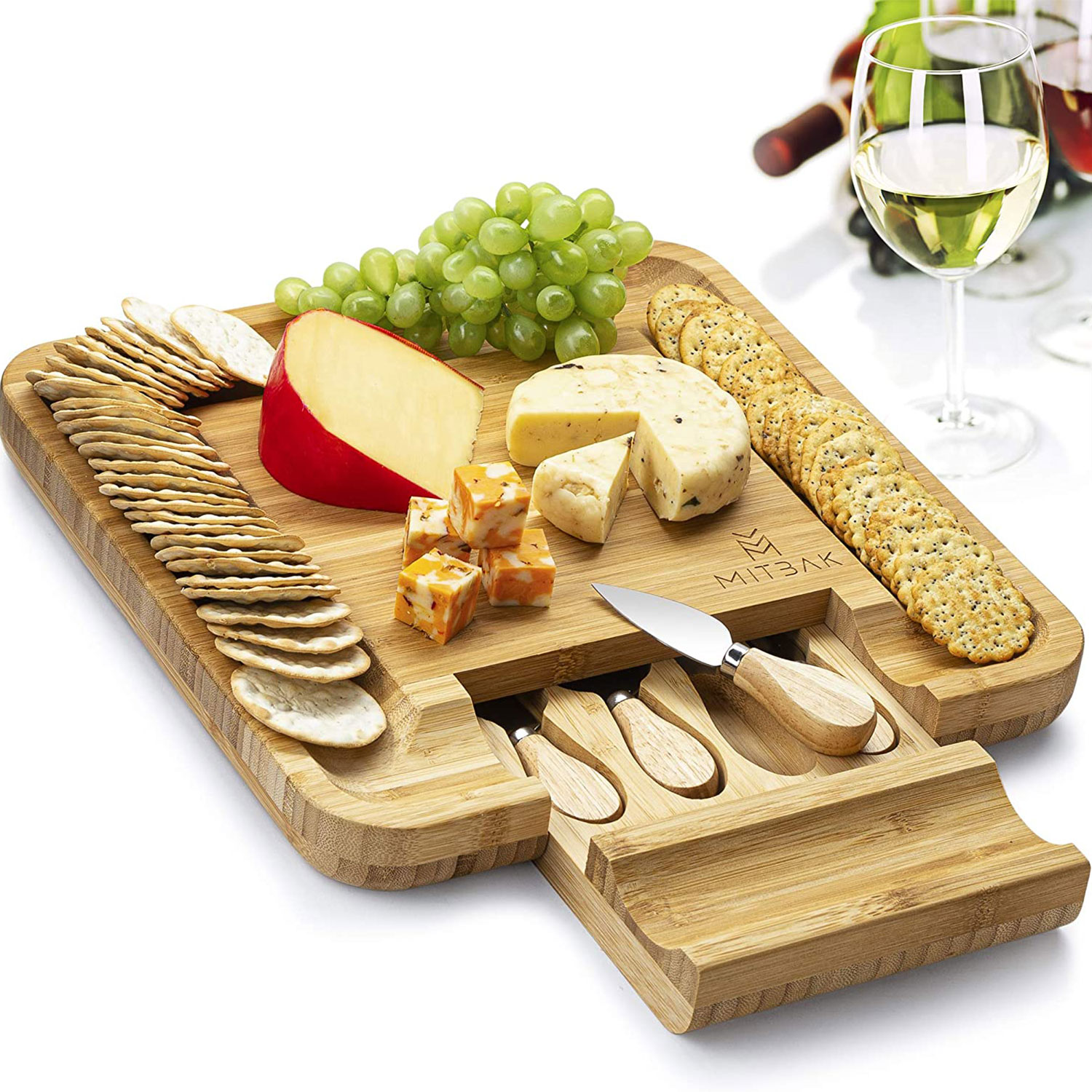 mitbak charcuterie board tray cheese knives
