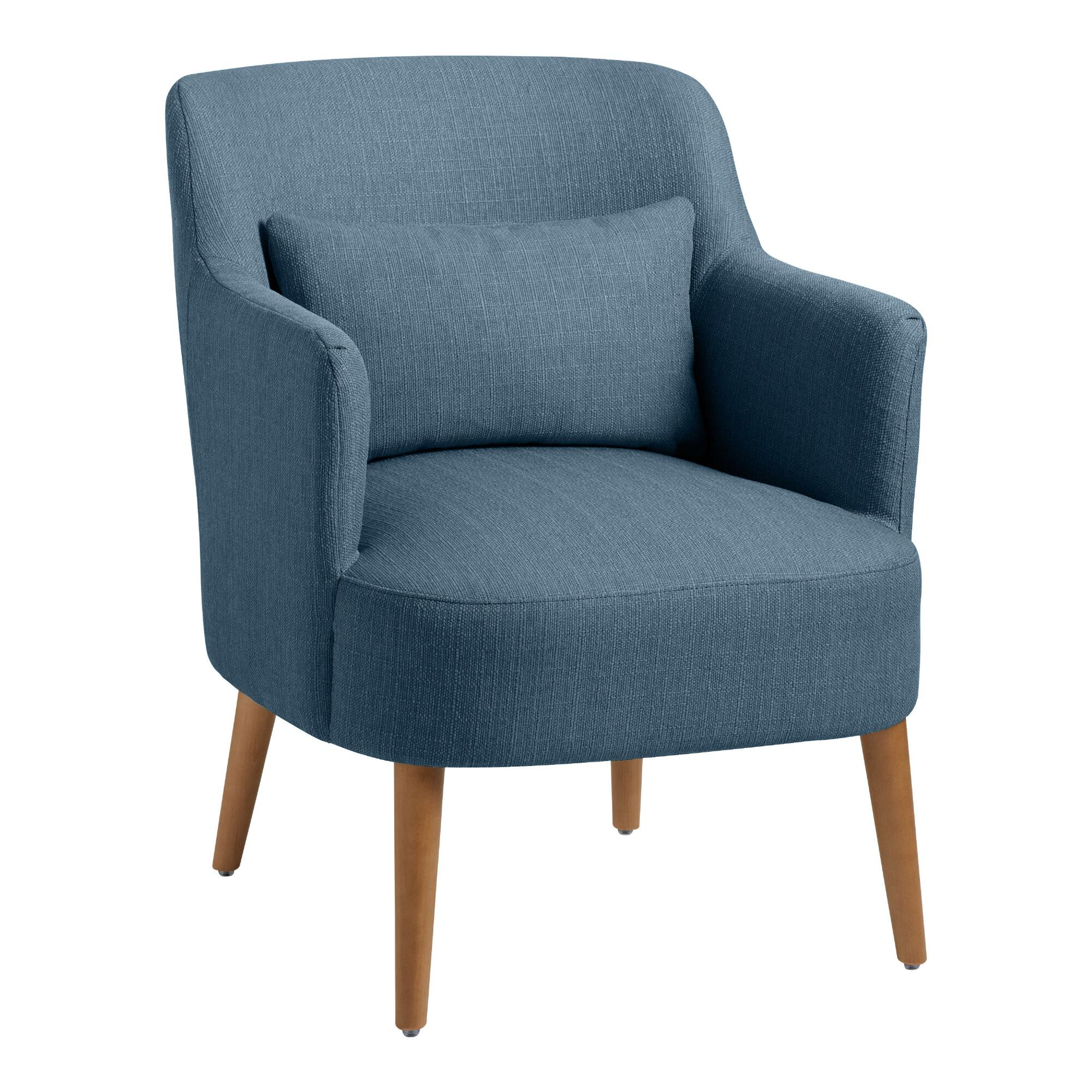 Modern Emery Upholstered Chair With Pillow