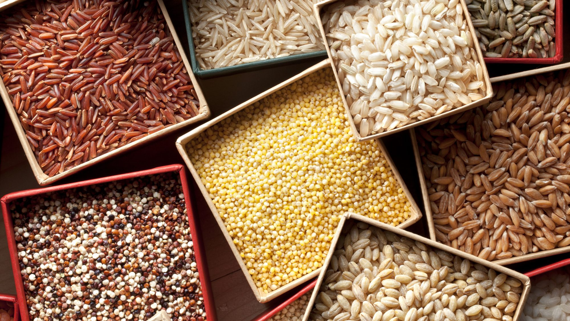 Types of grains - guide to common types of grains with chart and pictures