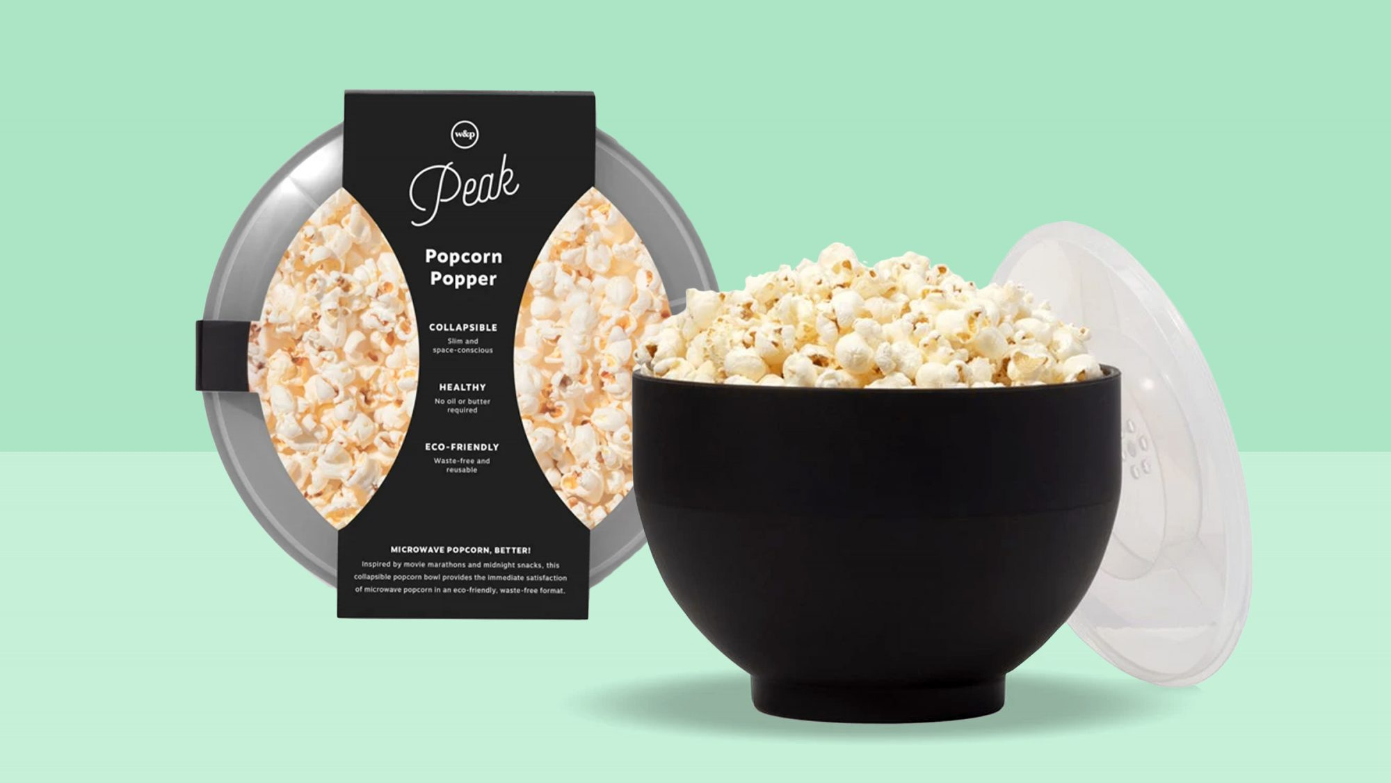 Cheap Christmas Gifts for 2020: Main Image popcorn bowl with green background