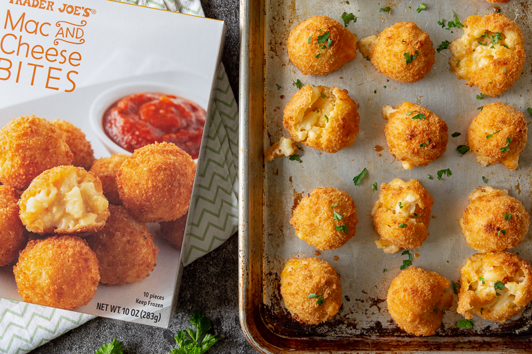 best-trader-joes-holiday-appetizers: mac & cheese bites