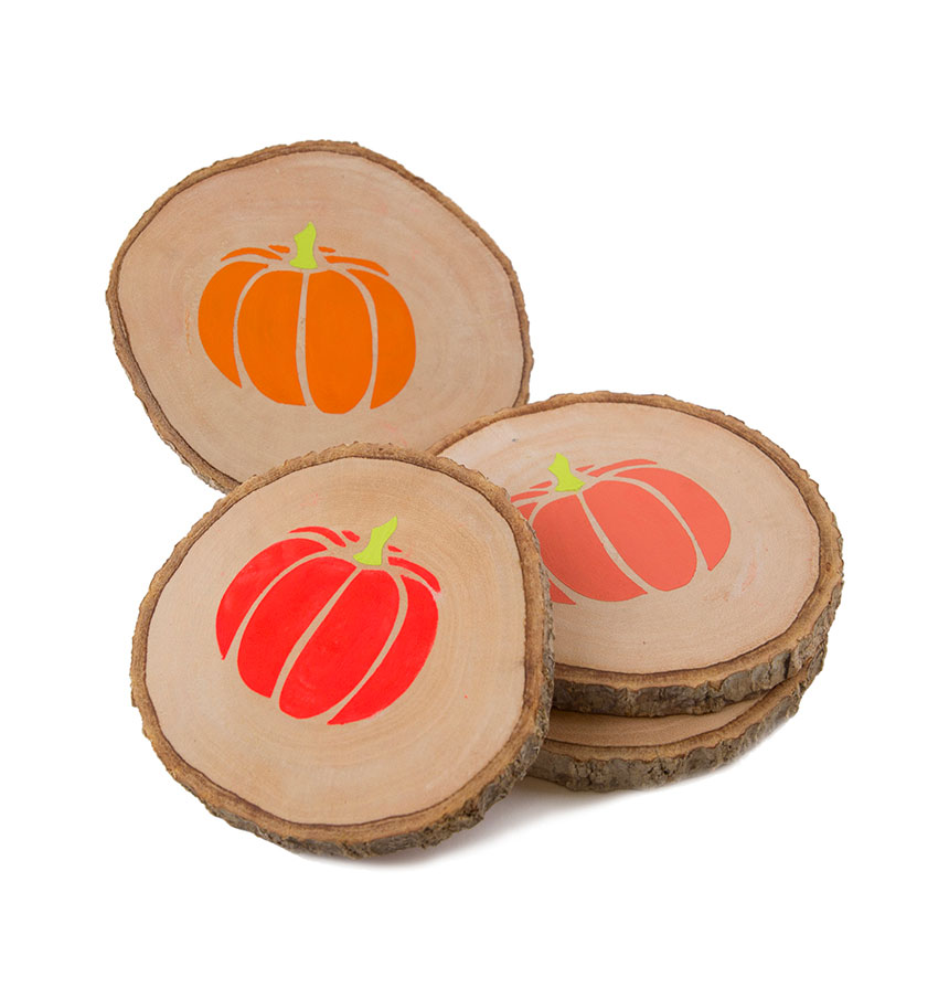 Thanksgiving crafts, ideas - Wood Coasters