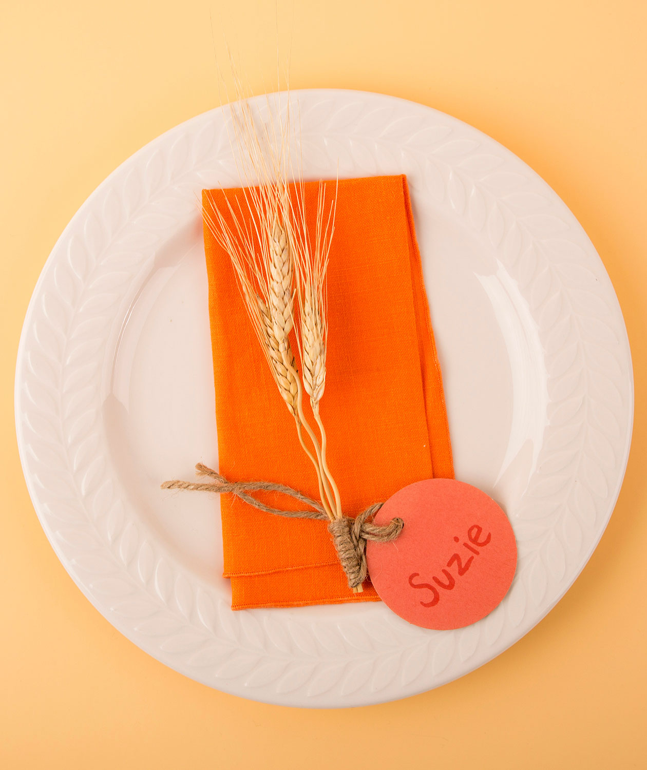 Thanksgiving crafts, ideas - Wheat Place Card Holder