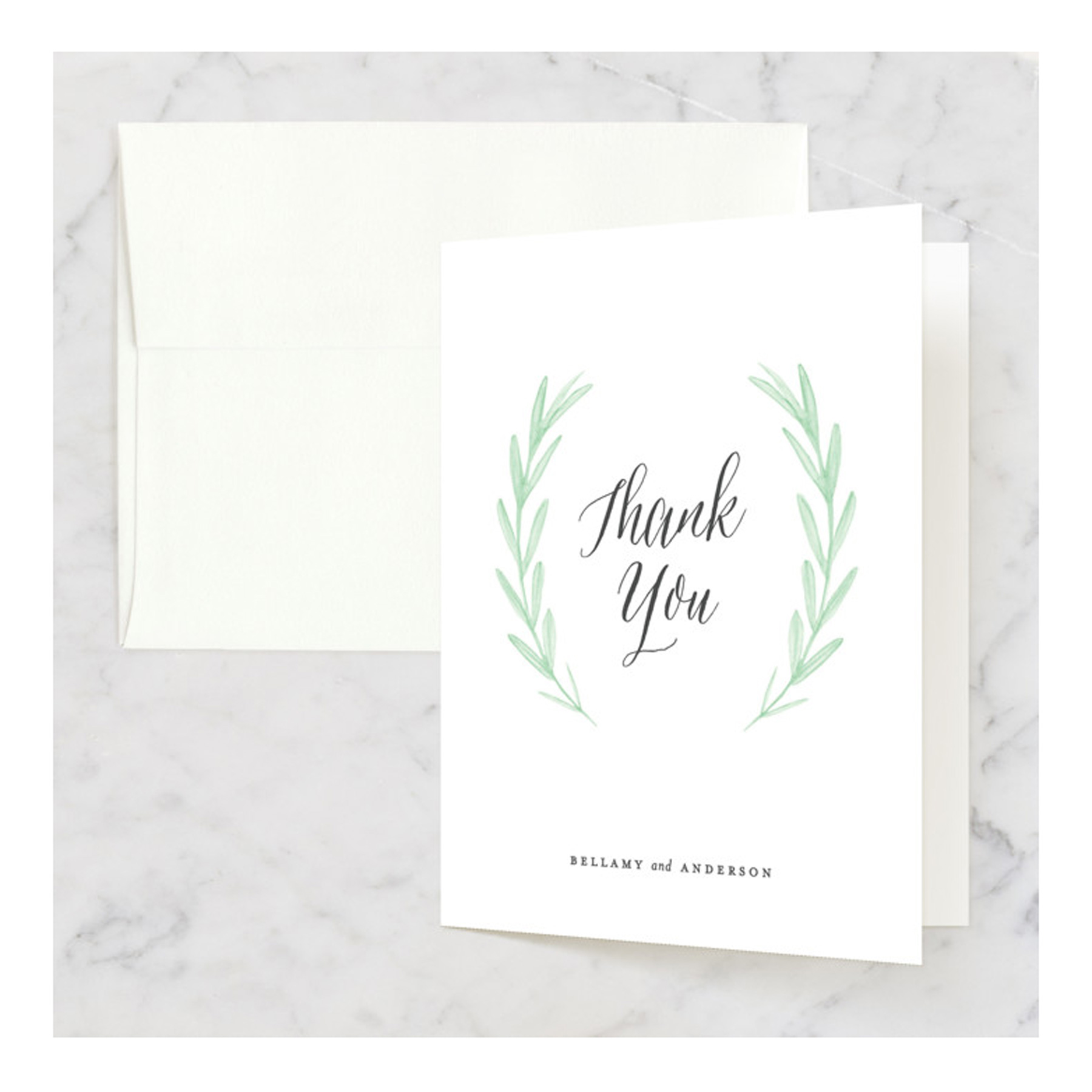 Engagement Gifts Ideas: Minted custom thank you stationery for couples