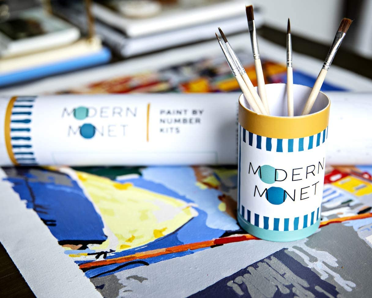 Best white elephant ideas - Modern Monet Paint by Numbers