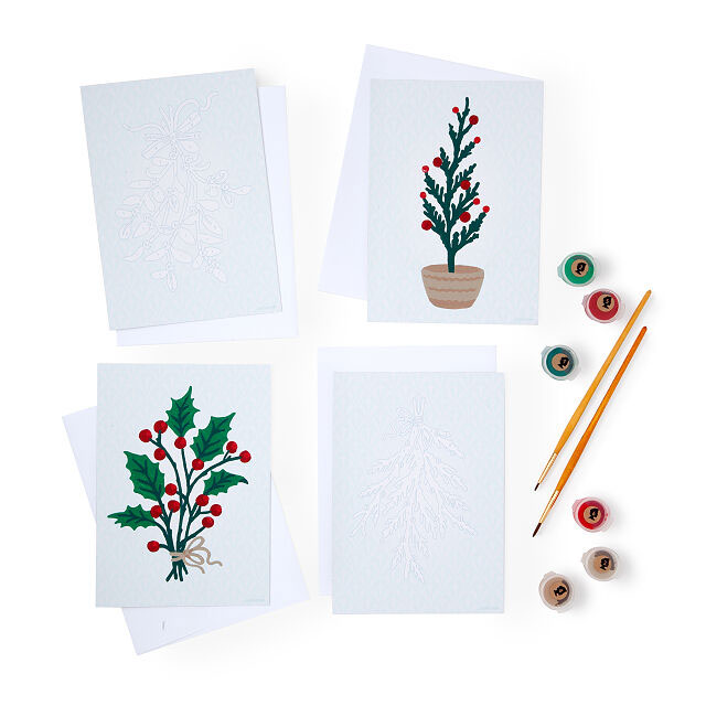 6 Clever Items 12/4/20 - Paint-by-Number Holiday Card Set