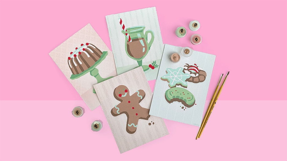 6 Clever Items 12/4/20 - holiday cards paint-by-number tout