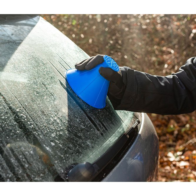 6 Clever Items 12/11/20 - Scrape-A-Round Windshield Ice Scraper