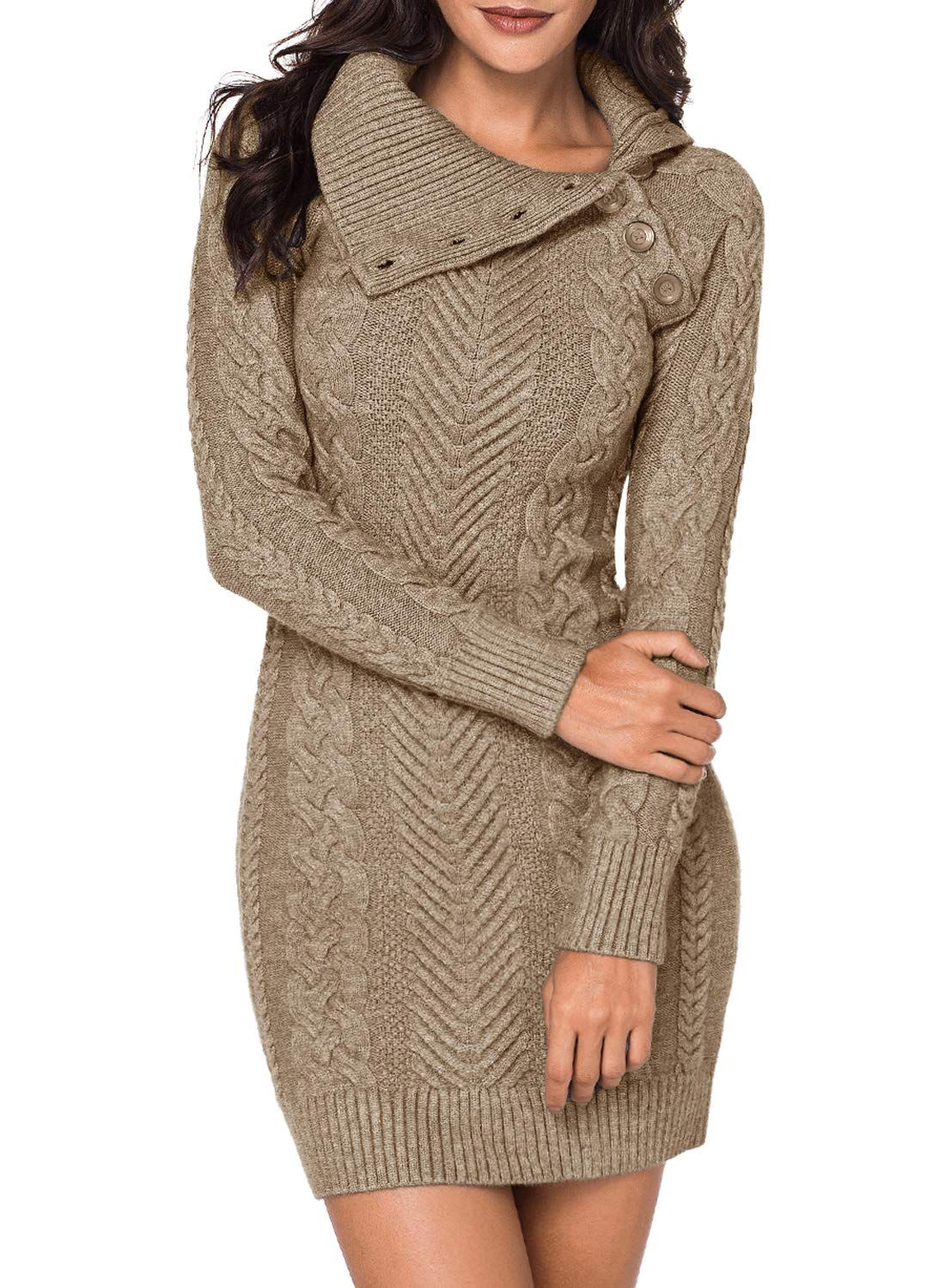 Blencot Turtleneck Chunky Cable Knit Pullover with Pockets