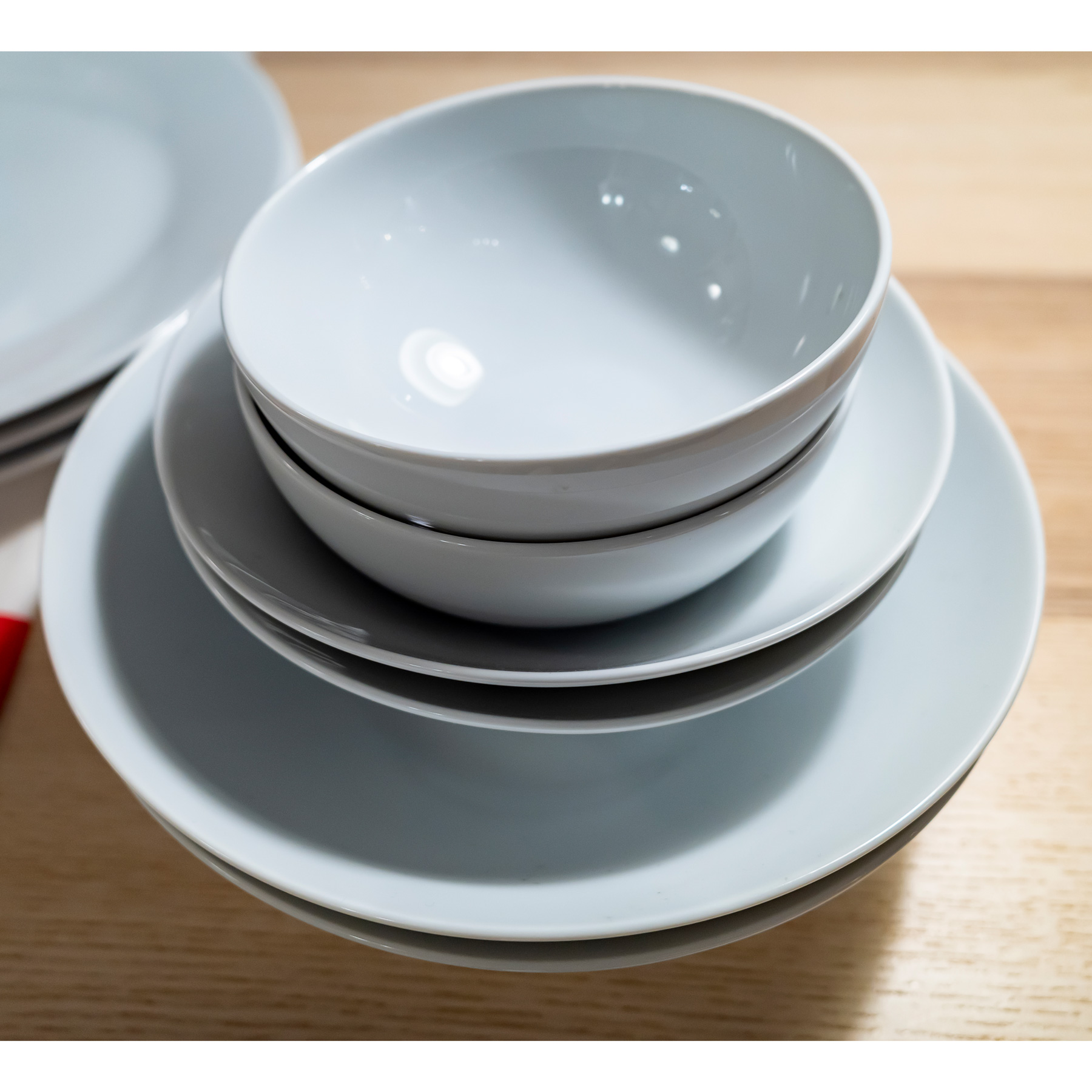 10 Ways to Make Your Home Greener: stack of ceramic bowls to microwave
