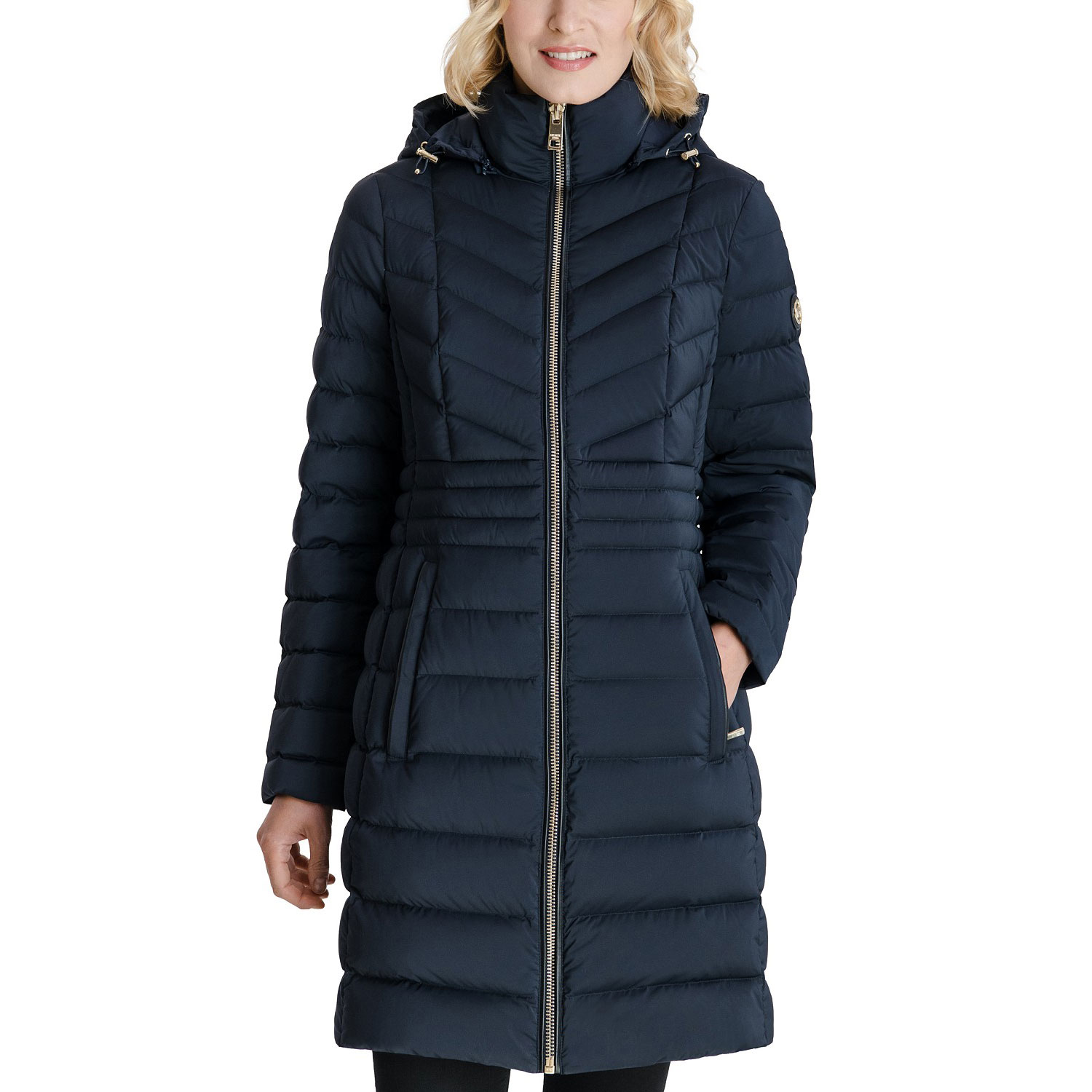 michael kors hooded stretch packable water resistant down puffer coat