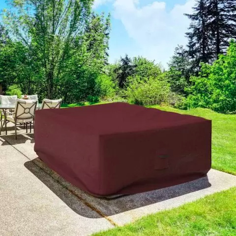 Outdoor Furniture Cover on Hot Tub