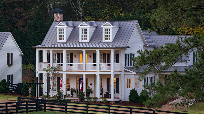 Southern Living House Plans, white house with porches