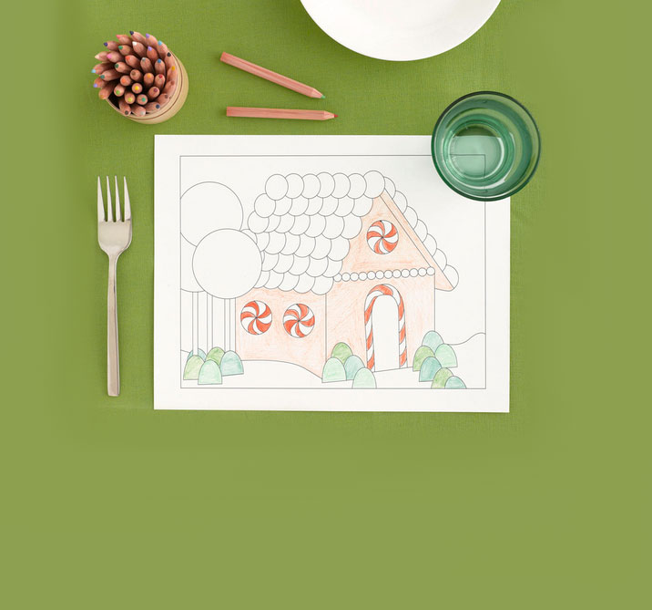 Christmas crafts ideas - Gingerbread House Placemat