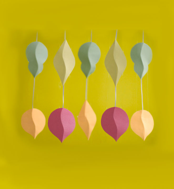 Christmas crafts ideas - Modern Paper Ornaments
