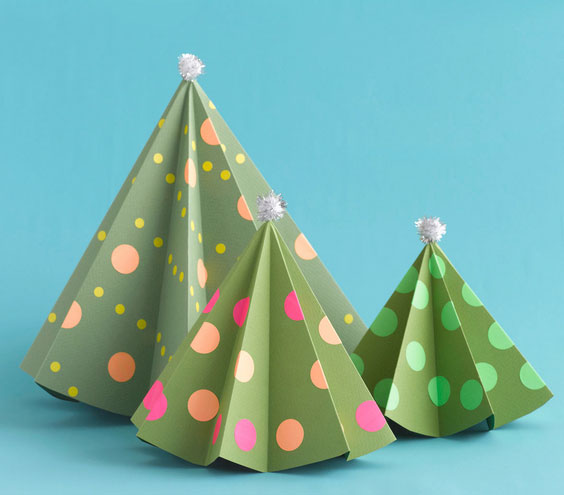 Christmas crafts ideas - Paper Trees