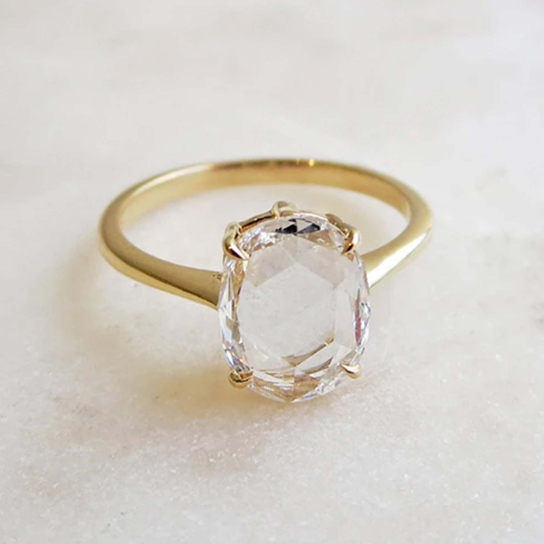 Engagement Ring Trends 2021: Anna Sheffield rose cut diamond ring