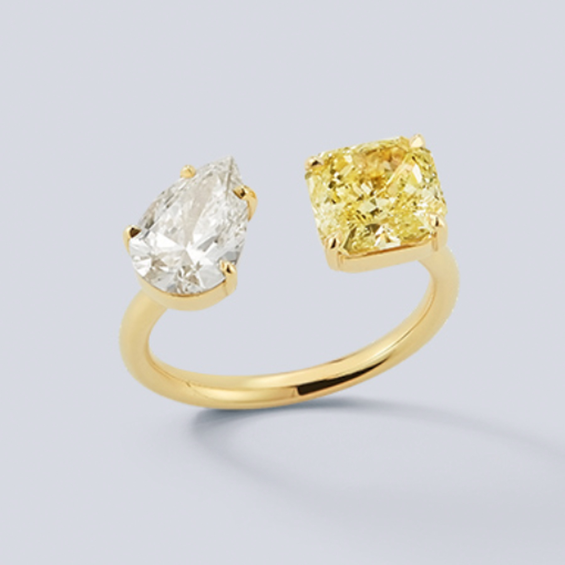 Engagement Ring Trends 2021: Jemma Wynne two-stone white and yellow diamond engagement ring