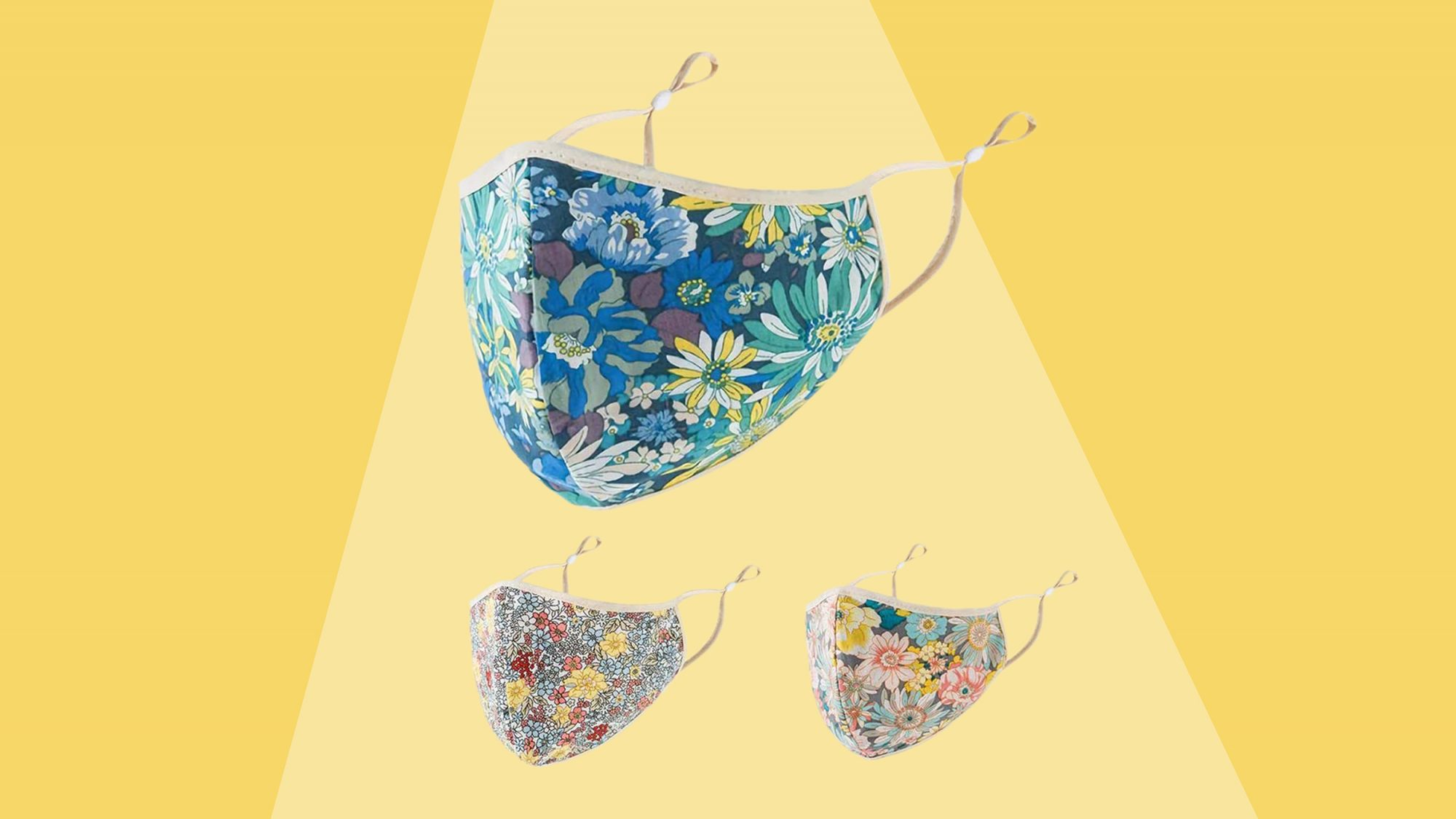 msaaex flower printing reusable face mask