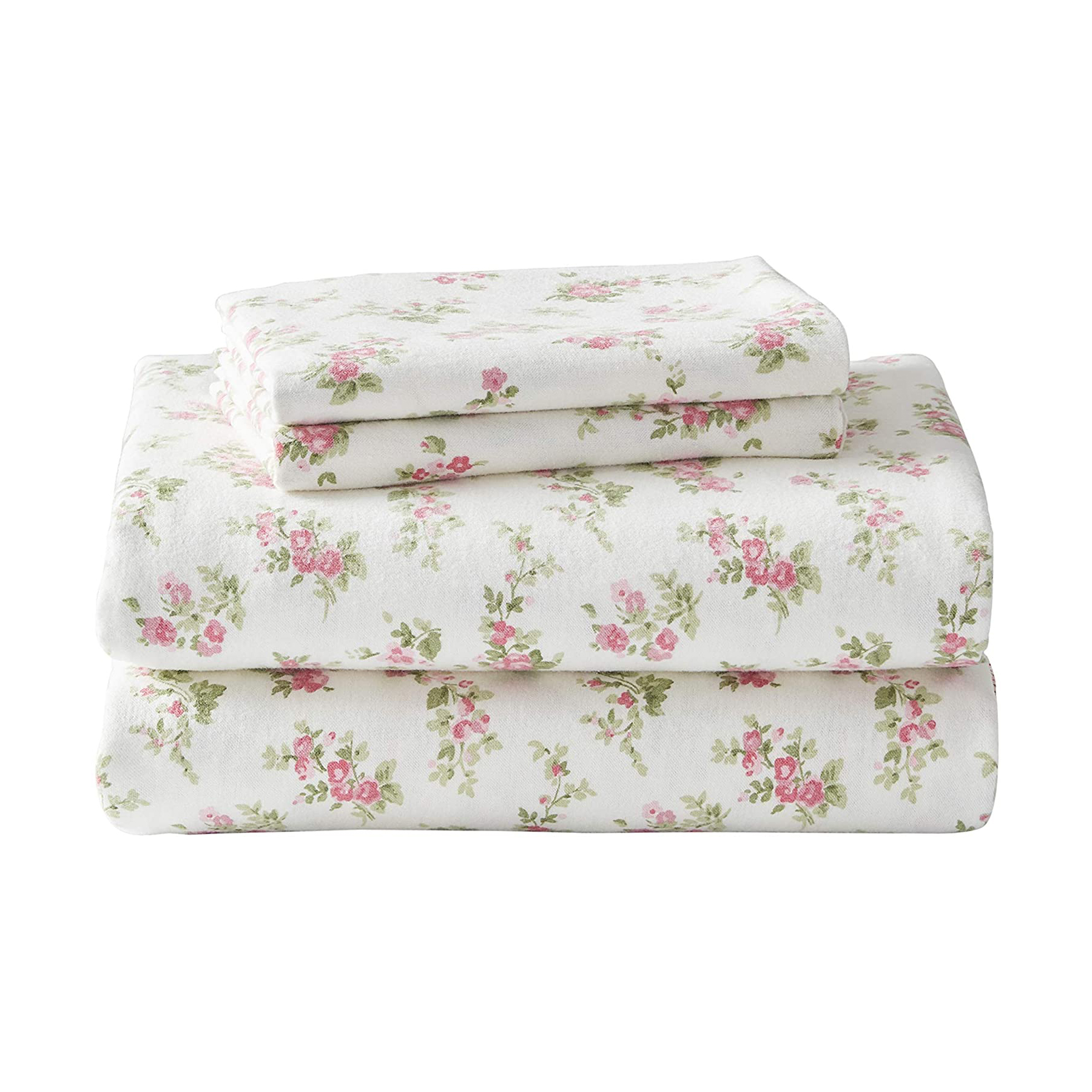 Laura Ashley Home Flannel Collection 100% Premium Cotton Bedding Sheet Set