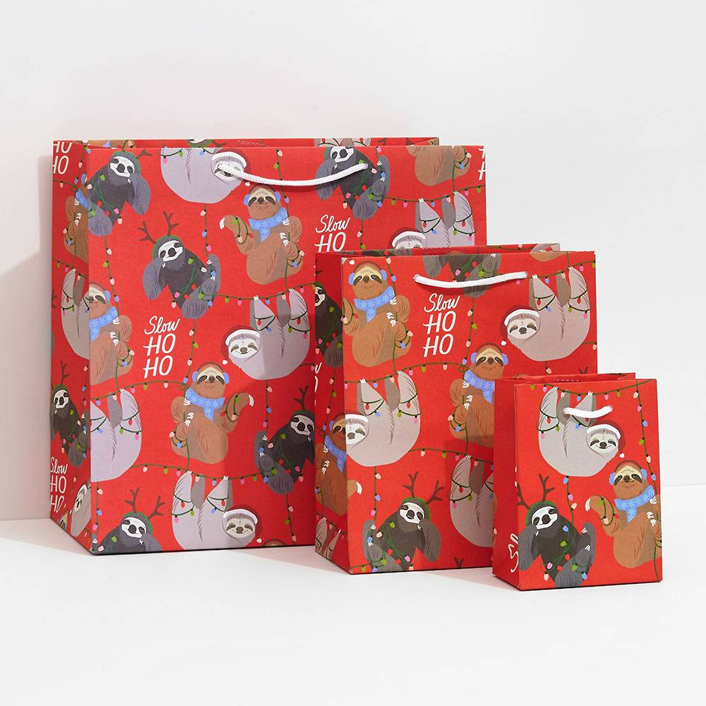 Holiday Sloth Wrapping Paper