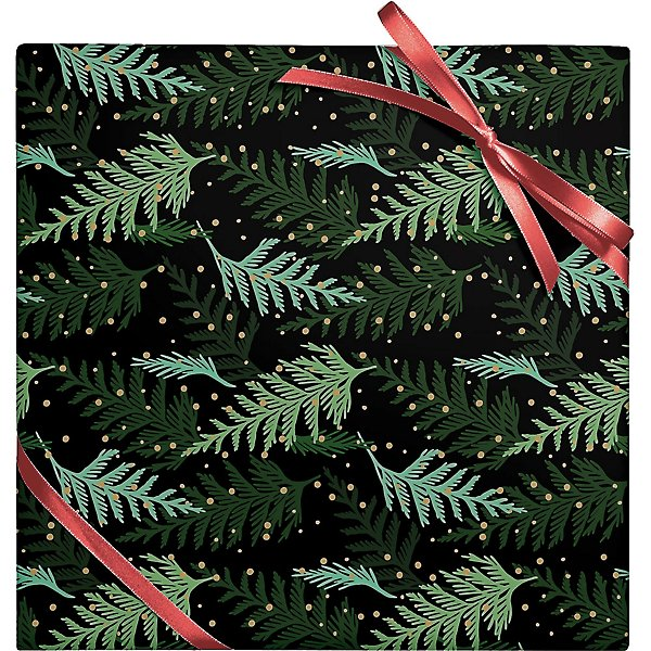 Paper Source Holiday Cedar Branches Stone Wrapping Paper