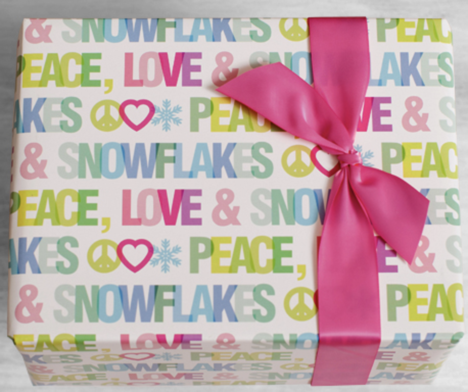 Peace Love & Snowflakes Wrap