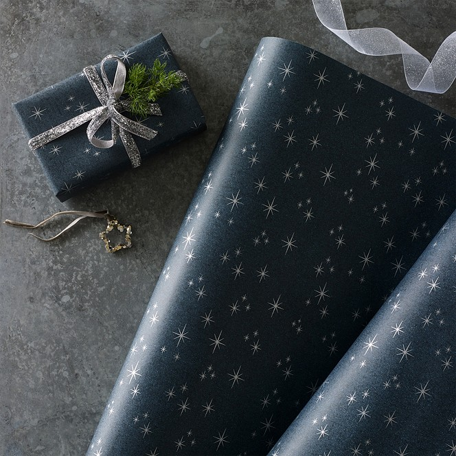 The White Company Starry Night Christmas Wrapping Paper