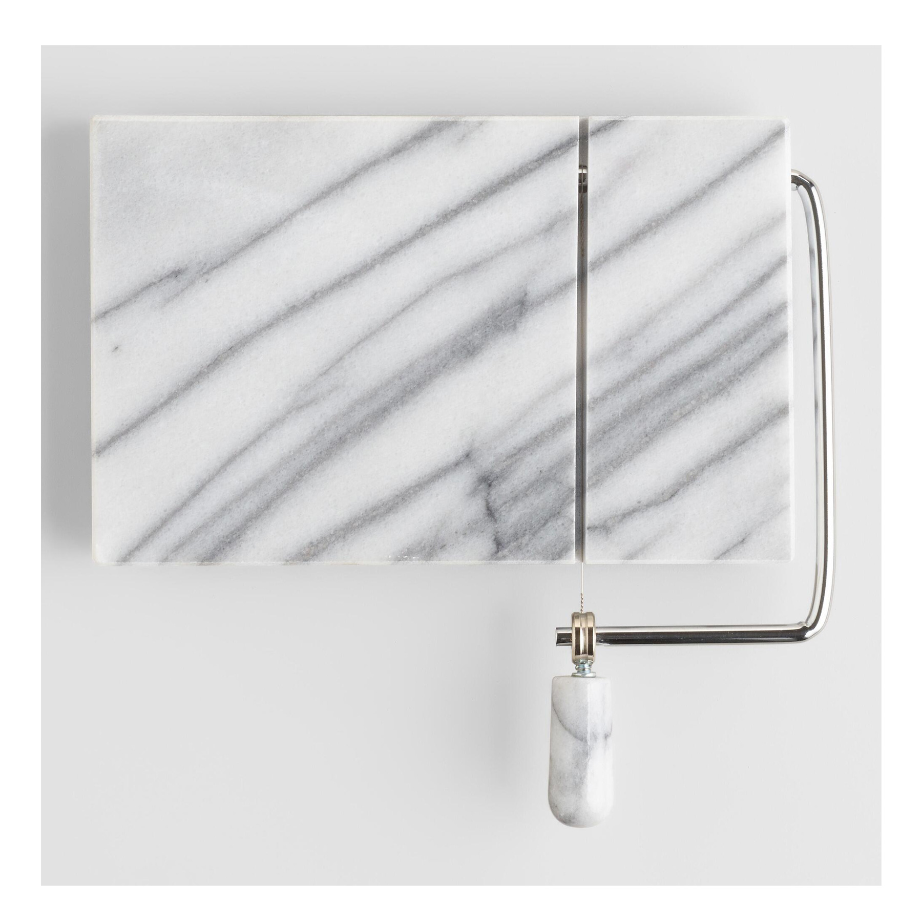 Cheap Christmas Gifts Under $25: World Market marble board with wire cheese cutter