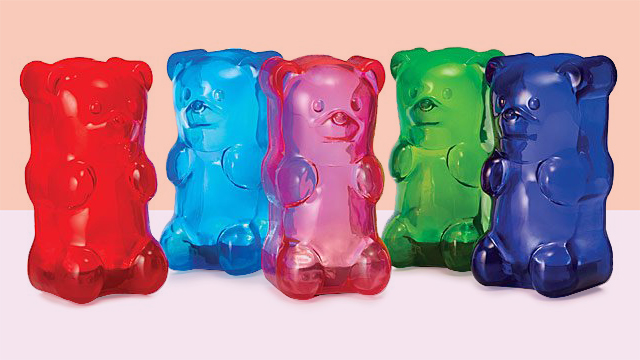 Gifts for teens and tweens - gummy bear lights on pink or peach background tout