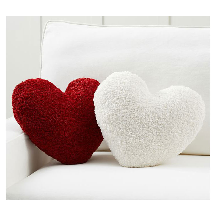 Gifts for teens and tweens - Pottery Barn Cozy Teddy Faux Fur Heart-Shaped Pillow