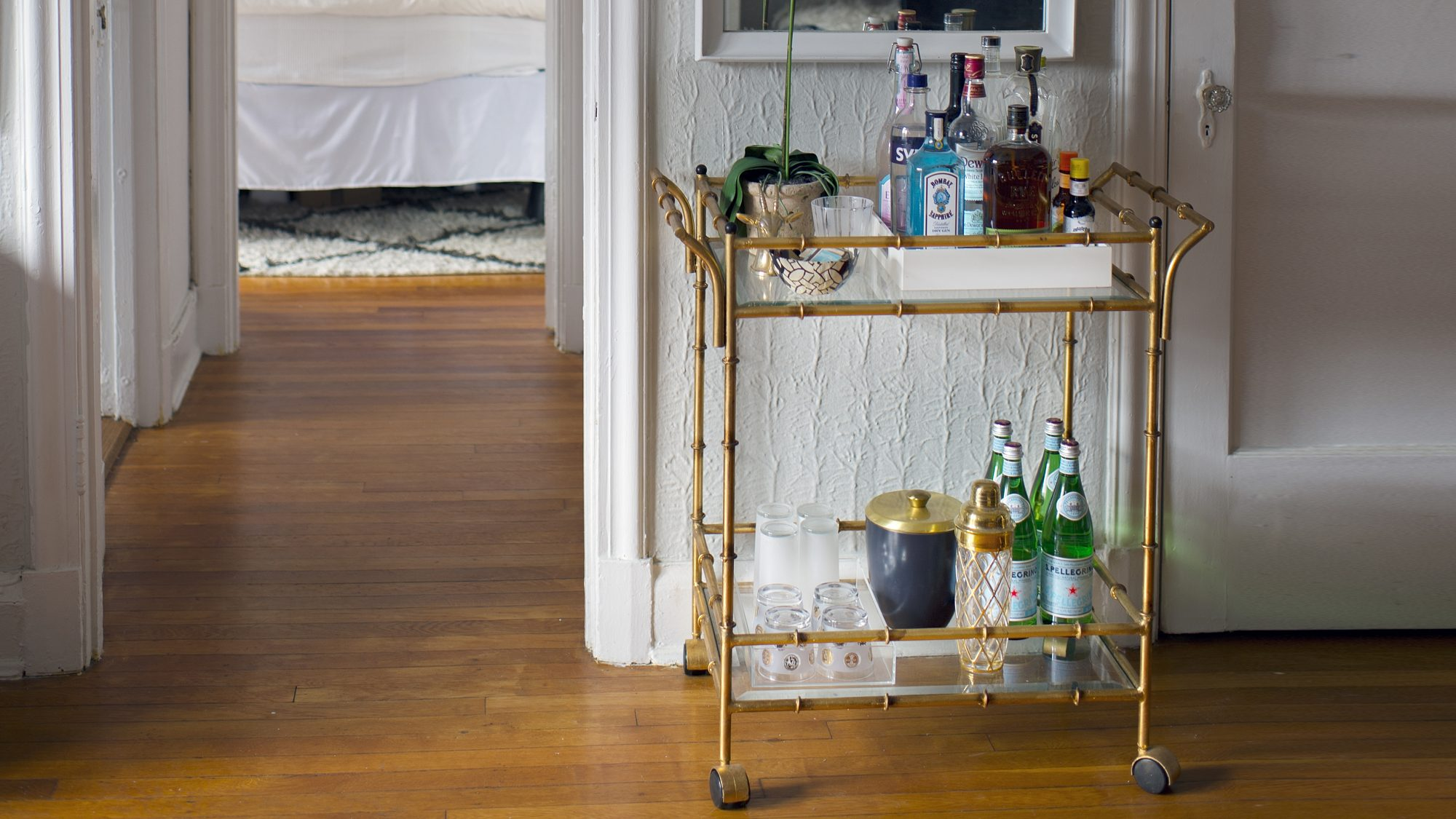 how-to-store-wine: bar cart