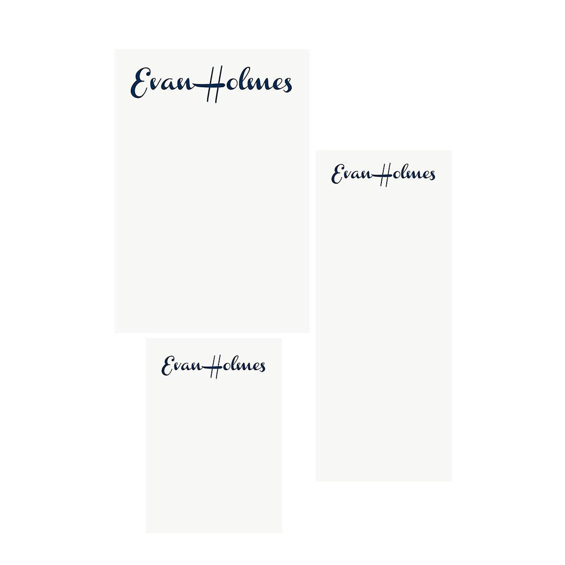 Gifts for Employees, Coworkers, and Bosses 2020: PaperSource minimal French Script personalized notepads