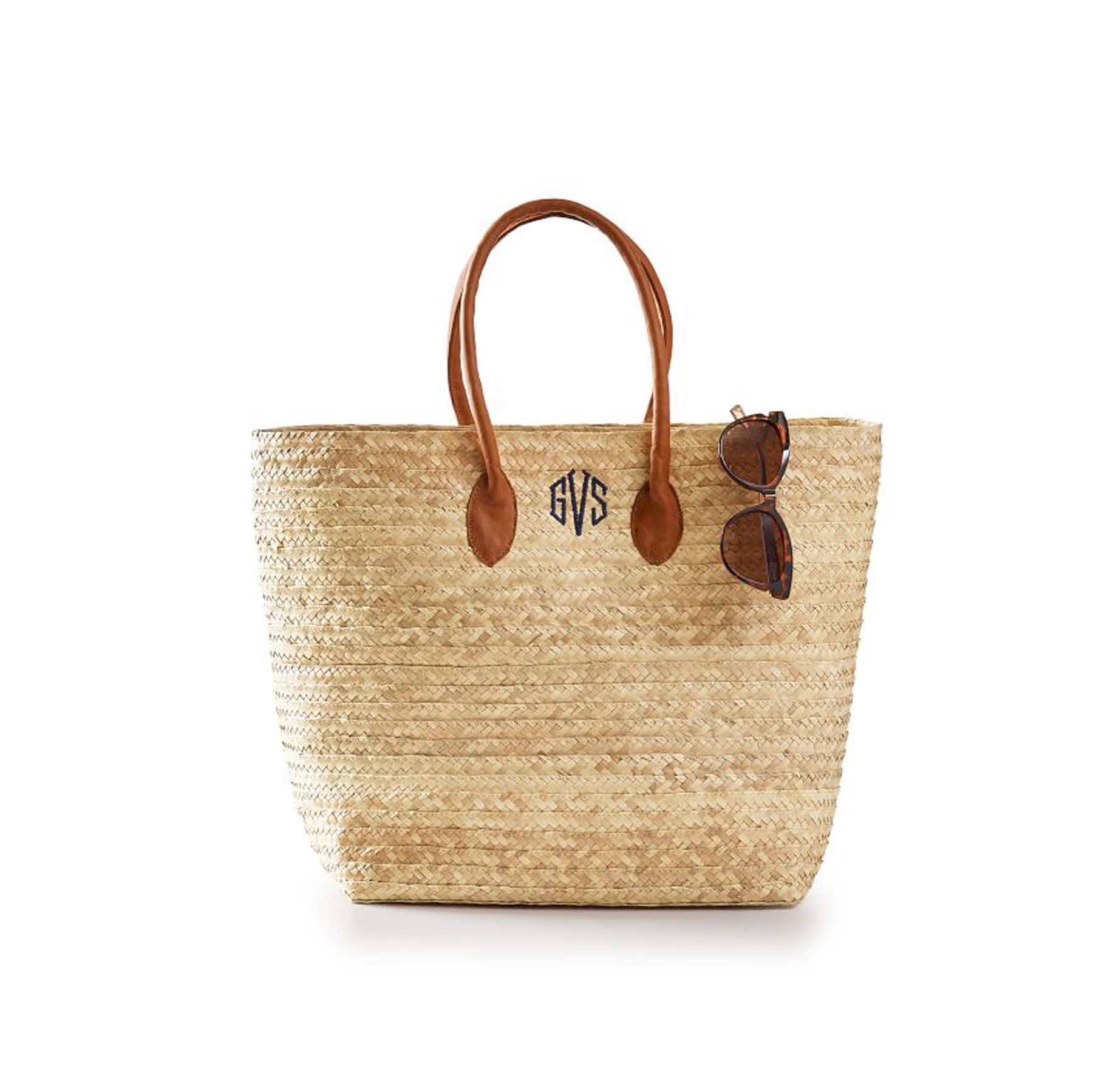 Gifts for Employees, Coworkers, and Bosses 2020: Mark & Graham monogram palm leaf tote