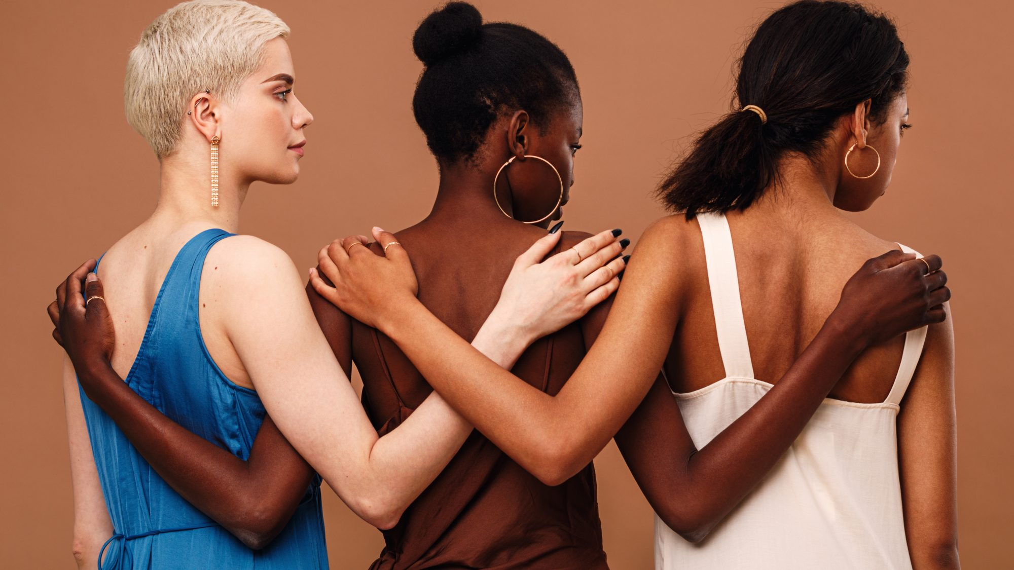 inclusive-foundation-brands: three women with different skin tones
