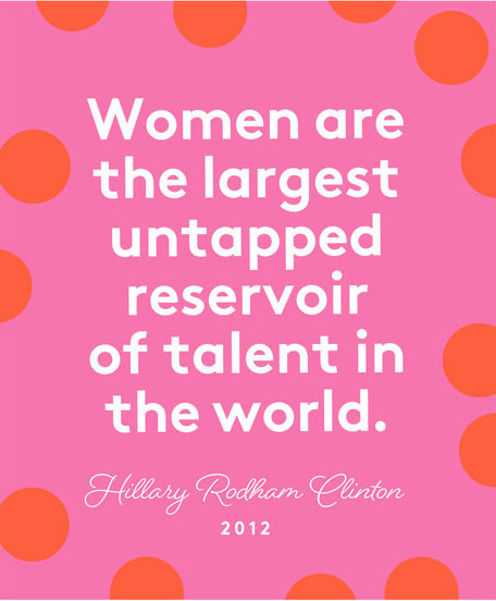 Happy International Women's Day quotes - Clinton quote