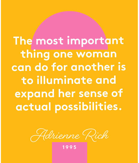 Happy International Women's Day quotes - Adrienne Rich quote