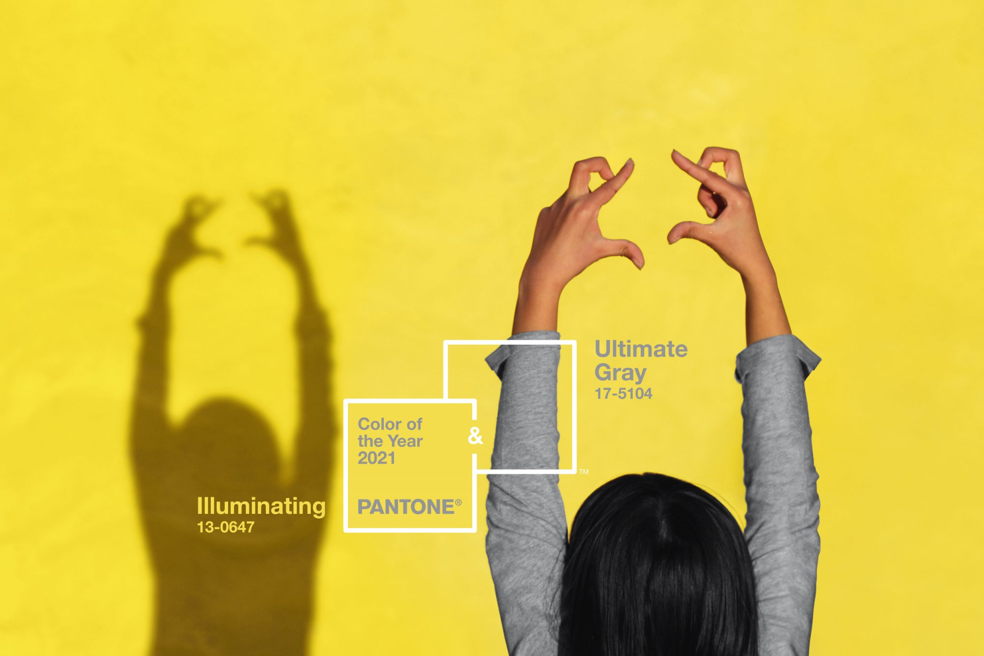 Pantone Color of the Year 2021, Illuminating and Ultimate Gray