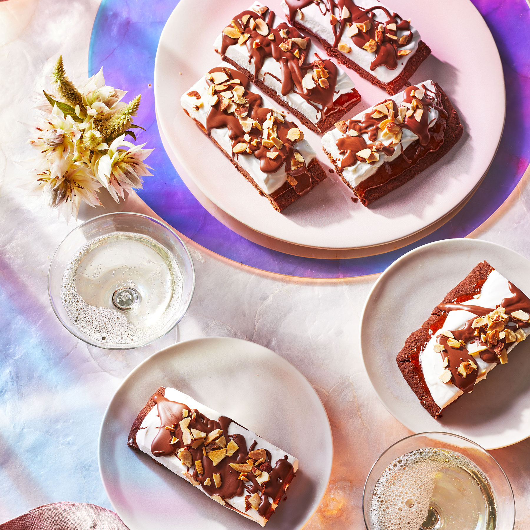 Marshmallow and Chocolate Shortbread Slices