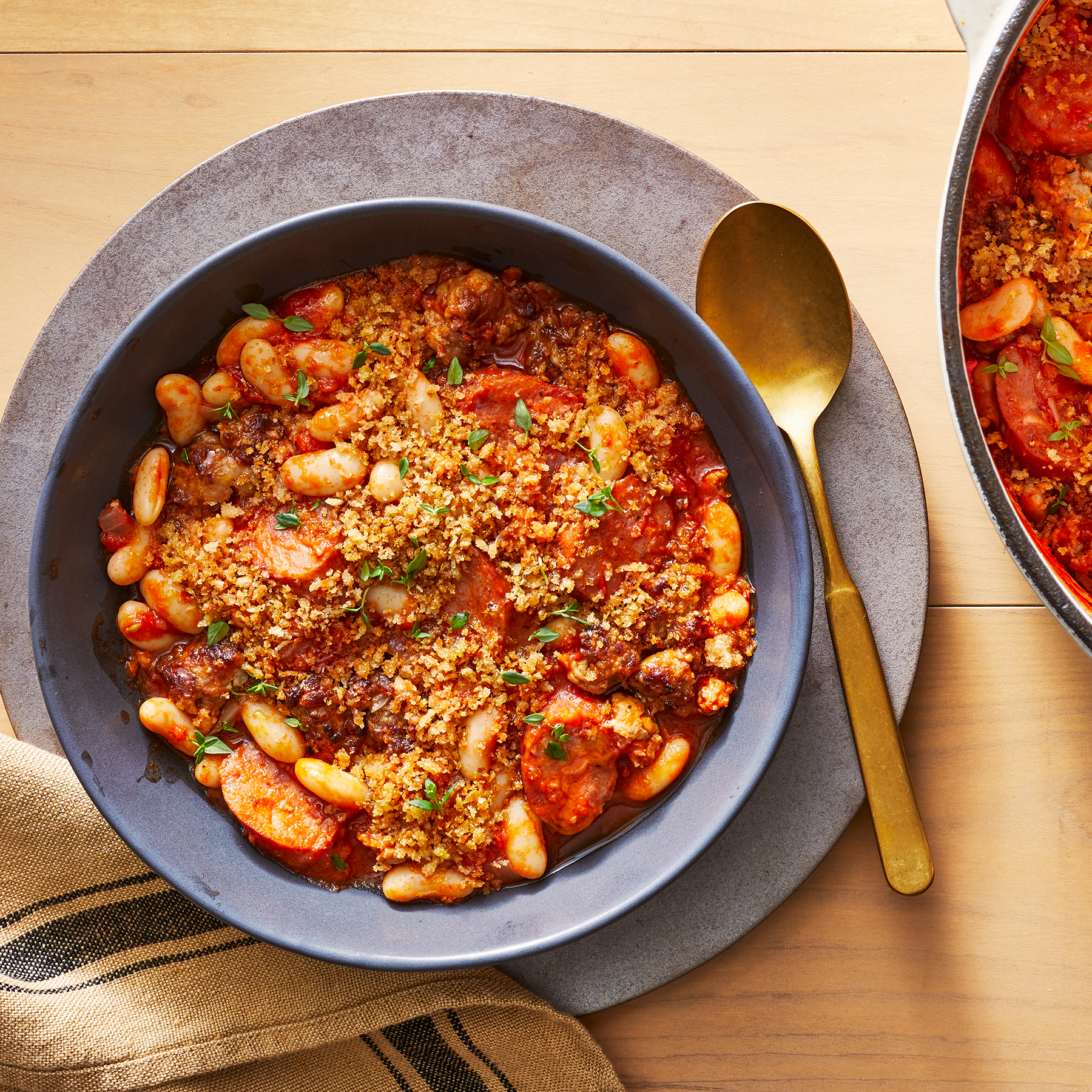 pork sausage and beans stew