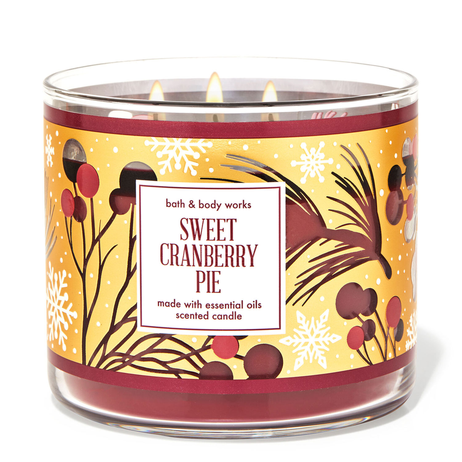 sweet cranberry pie candle