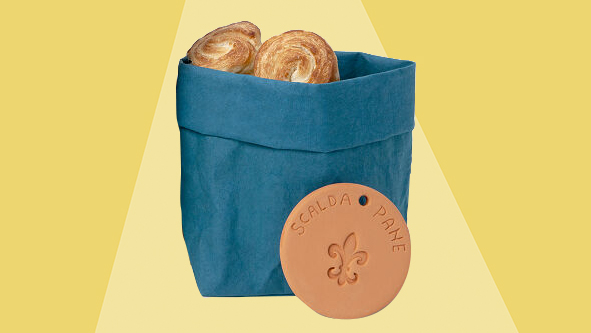 6 Clever Items (1/8/21) - bread warming bag on yellow background tout