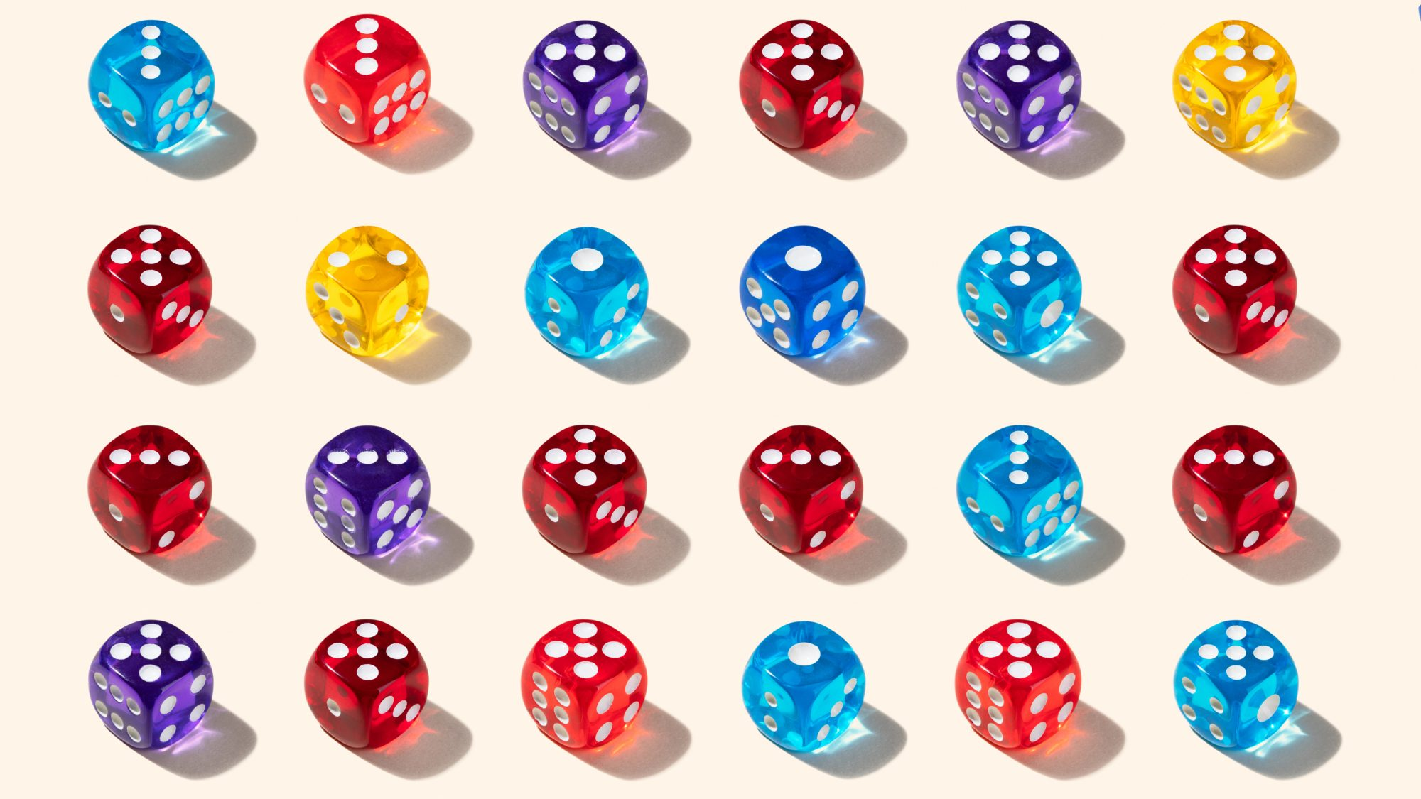 virtual-board-games: colorful dice for Yahtzee