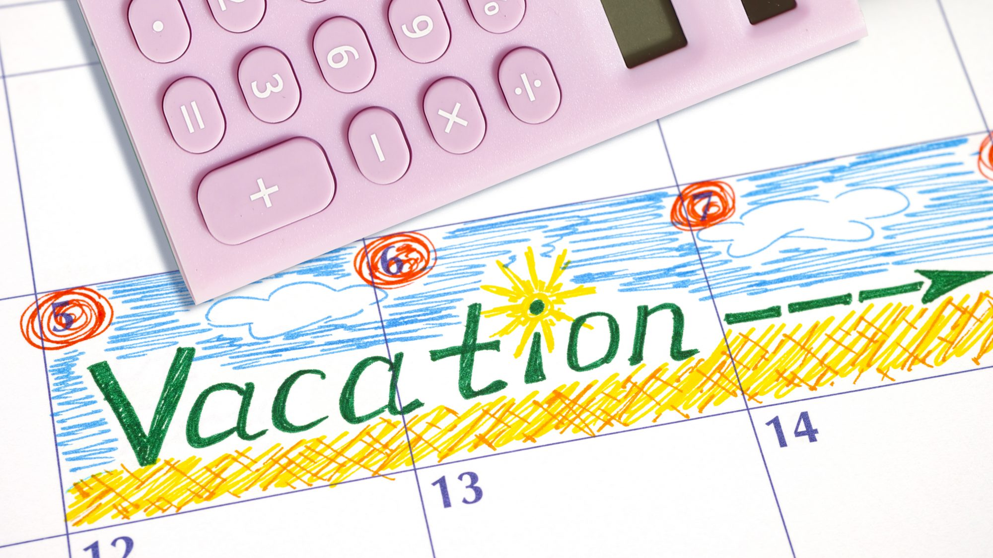 How to calculate value of time off - vacation PTO calendar