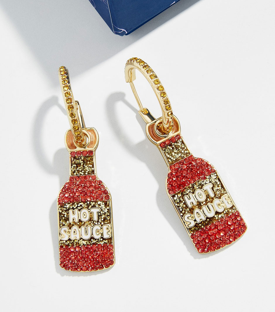 Valentine's Day gifts for her, wife, girlfriend - Baublebar Some Like it Hot Huggie Earrings