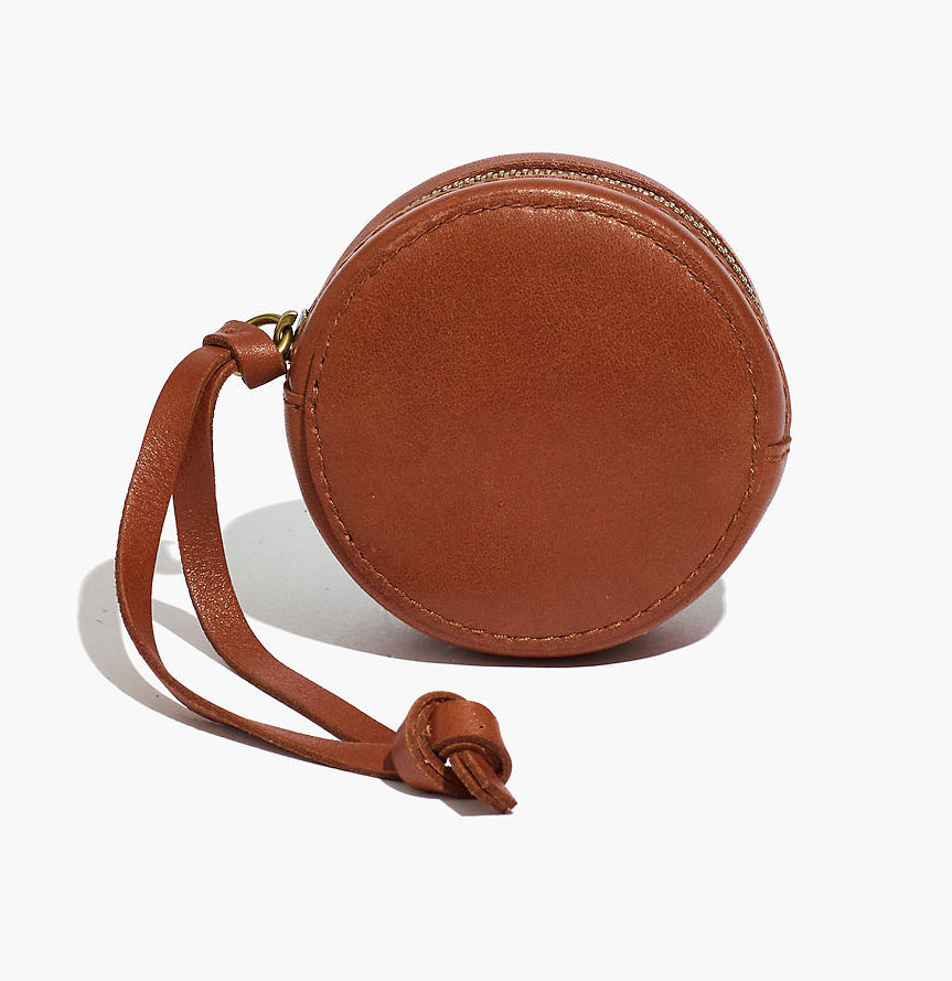 Valentine's Day gifts for her, wife, girlfriend - The Earbud Circle Pouch in Leather