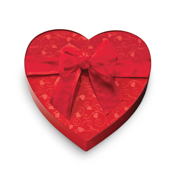 Valentine's Day gifts for her, wife, girlfriend - See's Candies Custom Mix Heart Box